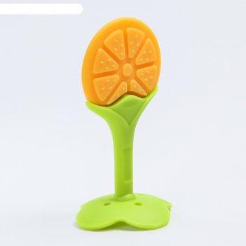 Прорезыватель силиконовый «апельсинка»