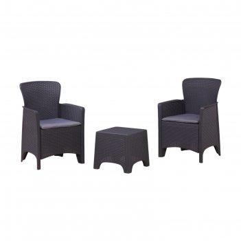 Набор мебели: 2 кресла, стол, с подушкой, иск. роттанг, sf3-2p