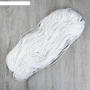 Шнур эластичный для масок 100 ±1м белый