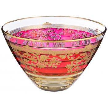 Декоративная чаша алессандра красная диаметр=25 см. высота=15 см.