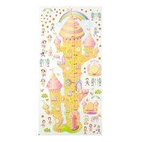 Ростомер детский с наклейками радужный замок