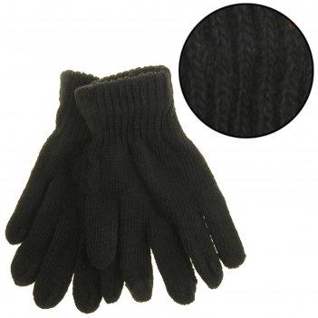 Перчатки мужские джо одинарные, длина-25см, безразмерные, цвет черный