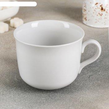 Чашка чайная 450 мл ностальгия, цвет белый