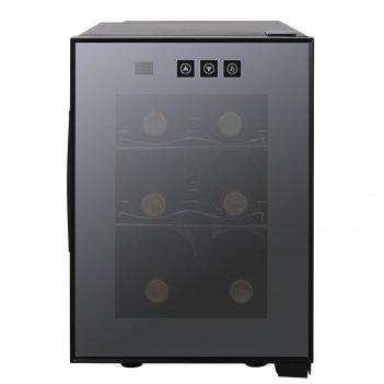 Винный шкаф gastrorag jc-16c, 16 л, 6 бутылок х 0.75 л, 1 дверца, сенсорно