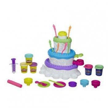 Play-doh. набор пластилина праздничный торт 3+