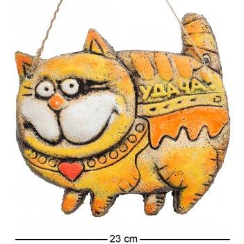 Kk-112 панно кот удача шамот