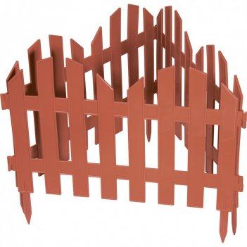 Забор декоративный романтика 28 x 300 см, терракот россия palisad