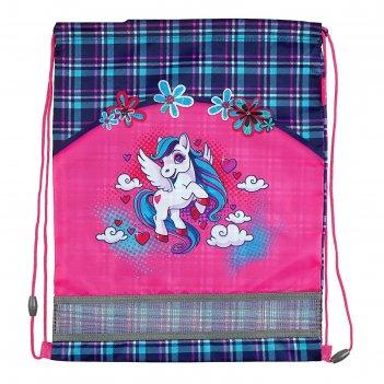 Мешок для обуви 460 х 340, mag taller evo, для девочки, unicorn, розовый
