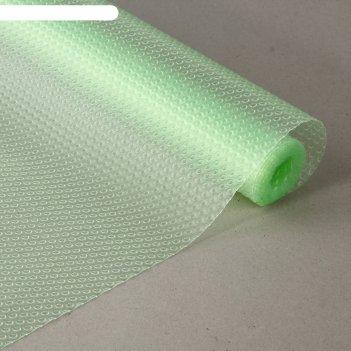 Коврик противоскользящий круги 30х150 см прозрачный зеленый