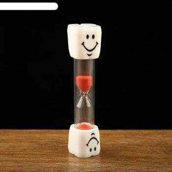 Часы песочные. серия пластик. 3 минуты, зубик, микс 2,5*10см