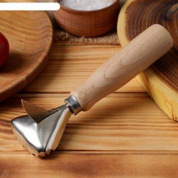 Рыбочистка с деревянной ручкой + нож для вспарывания