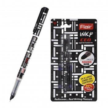 Ручка перьевая flair incy ceo, узел 0.7мм, 2 корпуса, синяя, в блистере f-