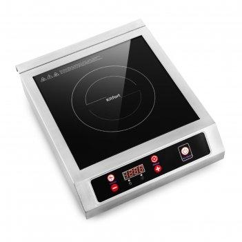 Плитка индукционная kitfort кт-123, 3200 вт, 1 конфорка, таймер, кнопки, ч