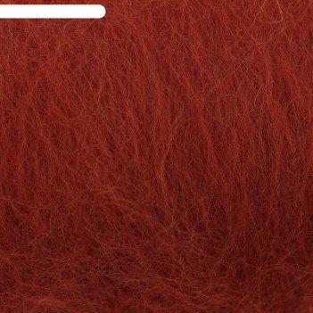 Шерсть для валяния кардочес 100% полутонкая шерсть 100гр (051 терракот)