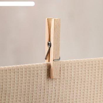 Прищепка деревянная, набор 20 шт, 7х1 см, массив бука