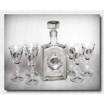 Набор для водки с рюмками  ссср      арт. ншт110ср-56
