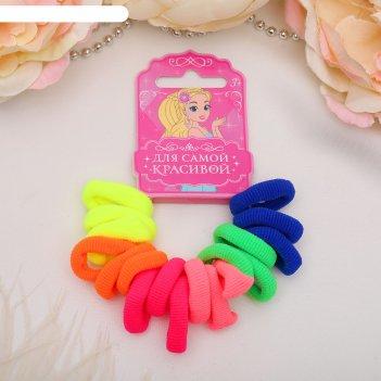 Резинка для волос махрушка (набор 20 шт) радуга, микс