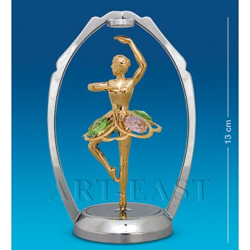 Ar-1287/ 1 фигурка танцующая балерина цв.кр. (юнион)