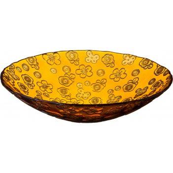 Фруктовница флора 40 см. желтая без упаковки