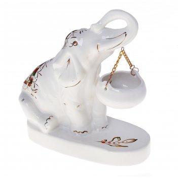 Аромалампа слон индийский белый