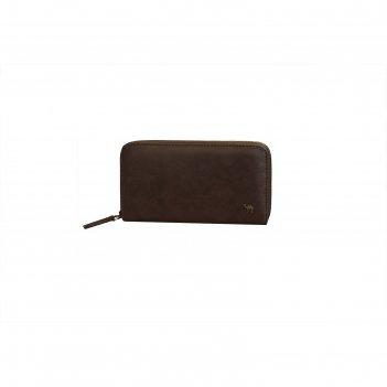 Портмоне-клатч 19x2.5x11.2 см, цвет коричневый