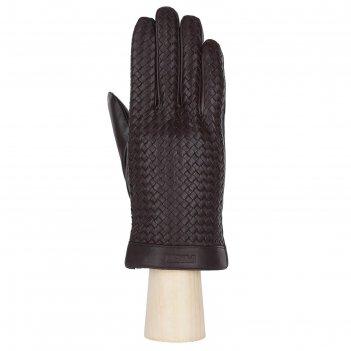 Перчатки мужские, натуральная кожа (размер 10) шоколадный