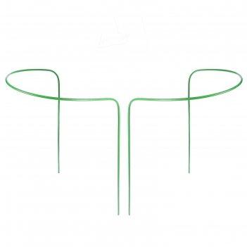 Кустодержатель, d = 30 см, h = 60 см, ножка d = 0,3 см, металл, набор 2 шт