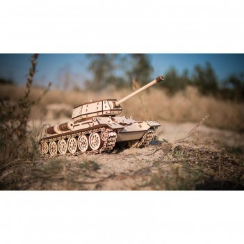 Конструктор деревянный 3d ewa «танк t-34»