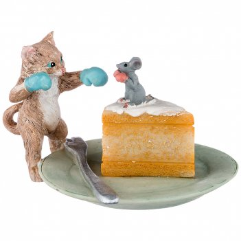 Фигурка кошки-мышки 11.5*11*6.5 см (кор=36шт.)