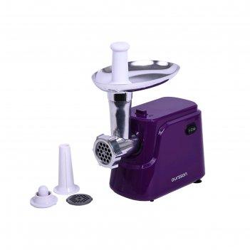 Мясорубка oursson mg5550/sp, 800 вт, 1.8 кг/ч, реверс, фиолетовая