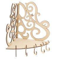 Ключница для декора с 5 крючками ажурная 18х18х25,5 см (80803)