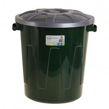 Бак многофункциональный гроссо 58 л с крышкой, цвет зеленый