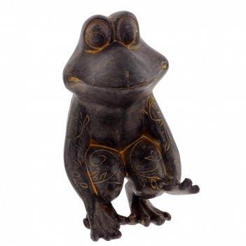 Фигурка декоративная лягушка, l8 w11 h13 см
