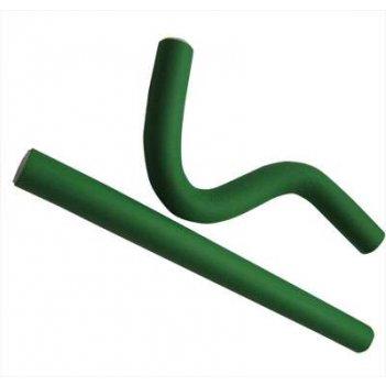Бигуди-бумеранги зеленые 20х240 мм (10 шт.)