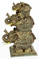 Фигурка декоративная три слона 17*11*24см