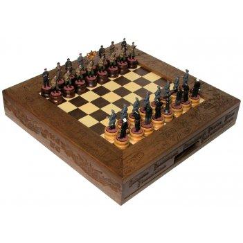 Шахматы исторические эксклюзивные с фигурами из цинкового сплава покрашенн