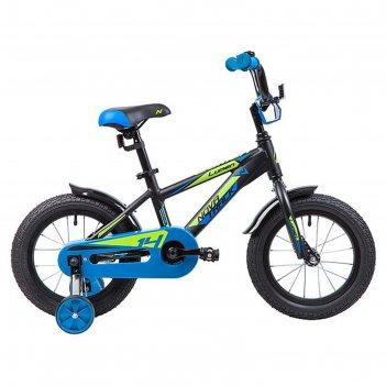 Велосипед 14 novatrack lumen, цвет черный