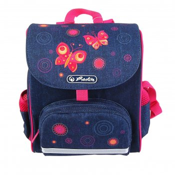 Ранец дошкольный herlitz mini softbag, 24 х 20 х 14, для девочки, butterfl