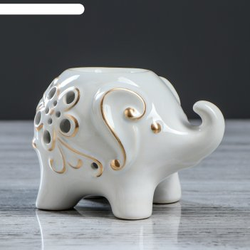 Аромалампа слоник белый