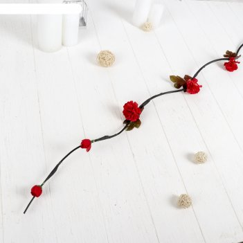 Декор тинги нежные розочки 150 см (фасовка 5 шт., цена за шт), микс