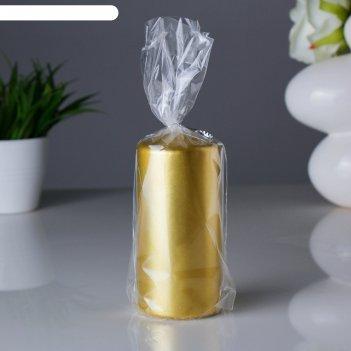 Свеча пенек 60х125 золотая