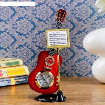 Часы настольные гитара с пюпитром, 19х8 см, микс
