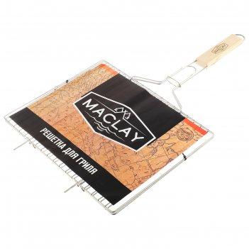 Решетка гриль для мяса maclay, нерж сталь, размер 340*286