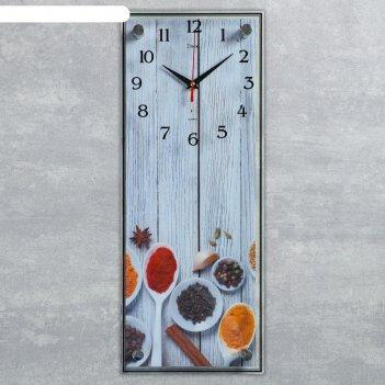 Часы настенные, серия кухня, специи, плавный ход, 49.5х19.5 см