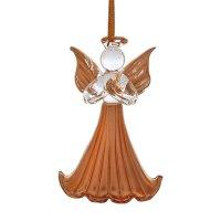 Сувенир стекло ангелочек золото (набор 6 шт) 6,3х4 см