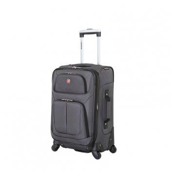 Чемодан wenger sion, серый, полиэстер 750x750d добби, 37x22x60 см, 35 л