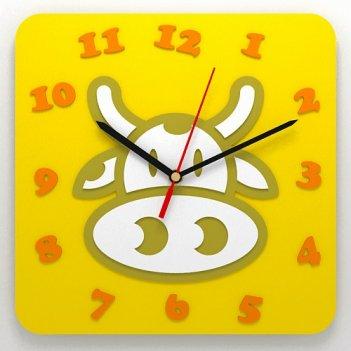 Детские настенные часы корова
