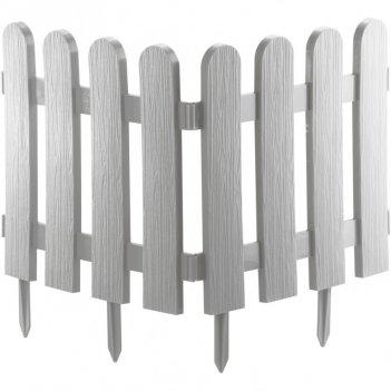 Забор декоративный классика 29 x 224 см, белый россия palisad
