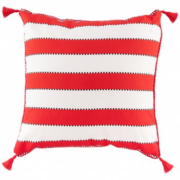 Подушка декоративная акцент,45х45см, 100% хлопок ,белый