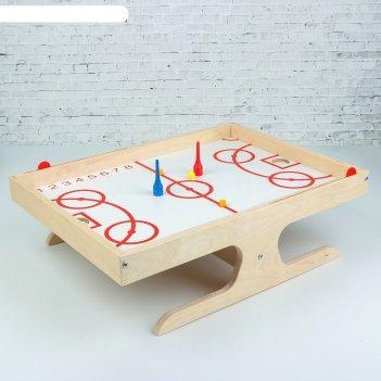 Игра настольная деревянная магнитный хоккей с мячом